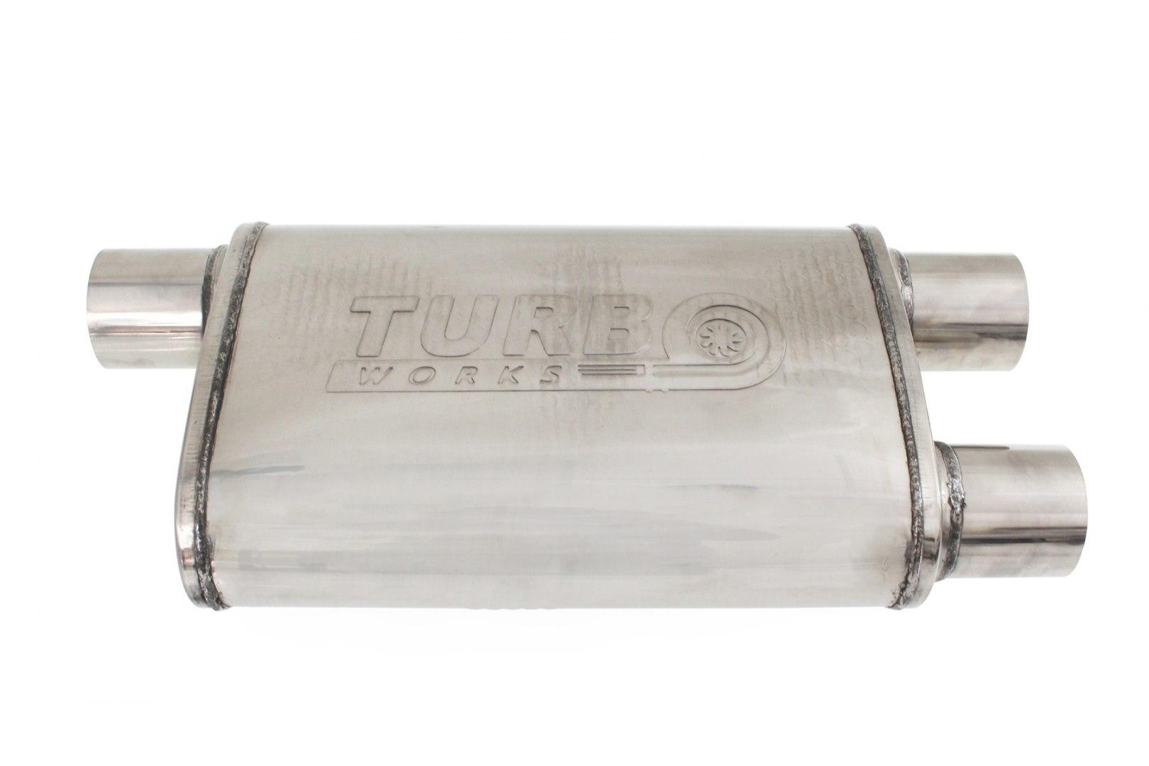 Tłumik pod przepustnicę TurboWorks 70mm 304SS - GRUBYGARAGE - Sklep Tuningowy